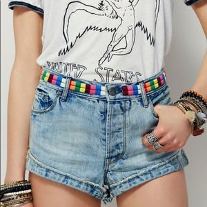 Free People Elliot Embroidered Shorts